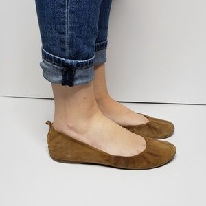 J. Crew Made in Italy Suede Leather Flats Size 8.5